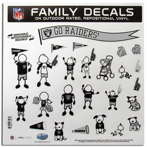 Oakland Raiders 11 X 11 Family Decal Set - Click to enlarge