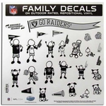 Oakland Raiders 11 X 11 Family Decal Set