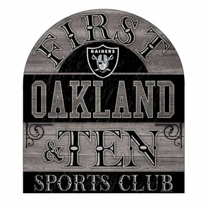 Oakland Raiders 11 x 11 Grey Pub Sign - Click to enlarge