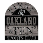 Oakland Raiders 11 x 11 Grey Pub Sign