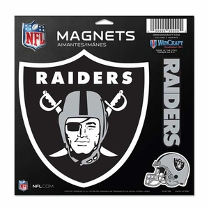 Oakland Raiders 11 x 11 Vinyl Magnets - Click to enlarge