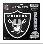 Oakland Raiders 11 x 11 Vinyl Magnets