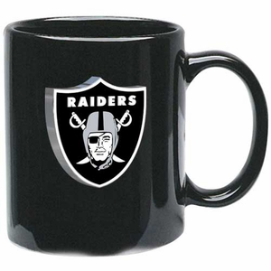 Oakland Raiders 11oz Black Mug - Click to enlarge