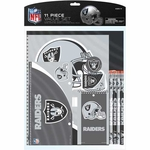 Oakland Raiders 11pc Stationary Set