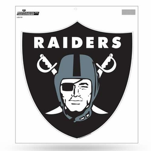 Oakland Raiders 12 Inch Shield Logo Vinyl Decal - Click to enlarge