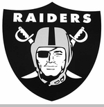 Oakland Raiders 12 Inch Shield Magnet