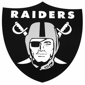 Oakland Raiders 12 Inch Shield Magnet - Click to enlarge