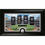 Oakland Raiders 12 x 20 Framed Super Bowl Stadium Print