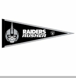 Oakland Raiders 12 x 30 Rusher Pennant
