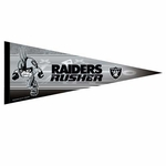 Oakland Raiders 12 x 30 Rusher Premium Pennant
