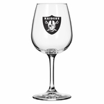 Oakland Raiders 14oz Game Day Wine Glass