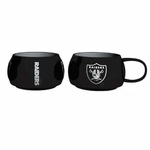 Oakland Raiders 14oz Stack Relief Mug