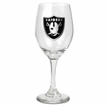 Oakland Raiders 14oz Wine Glass