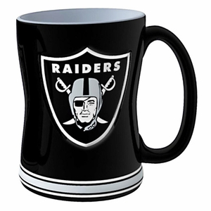 Oakland Raiders 15oz Relief Sculpted Mug - Click to enlarge