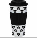 Oakland Raiders 16oz Banded Traveler Tumbler