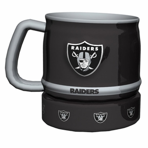 Oakland Raiders 16oz Barrel Sculpted Mug - Click to enlarge