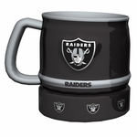 Oakland Raiders 16oz Barrel Sculpted Mug