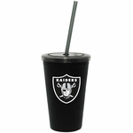 Oakland Raiders 16oz Black Sip N Go Tumbler