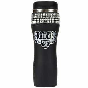 Oakland Raiders 16oz Bling Tumbler - Click to enlarge