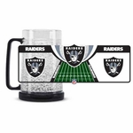 Oakland Raiders 16oz Crystal Freezer Mug