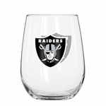 Oakland Raiders 16oz Curved Beverage Glass