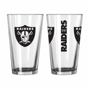Oakland Raiders 16oz Game Day Pint - Click to enlarge