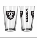 Oakland Raiders 16oz Game Day Pint