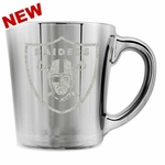 Oakland Raiders 16oz Glacier Glass Mug
