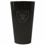 Oakland Raiders 16oz Glitter Ice Pint