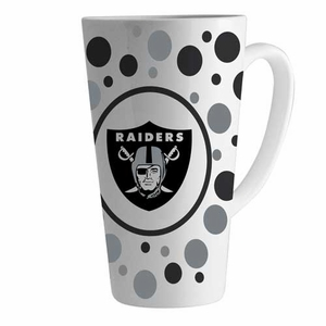 Oakland Raiders 16oz Polka Dot Latte Mug - Click to enlarge