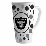 Oakland Raiders 16oz Polka Dot Latte Mug