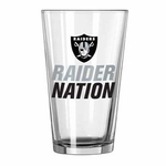 Oakland Raiders 16oz Slogan Pint