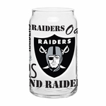 Oakland Raiders 16oz Spirit Glass Can