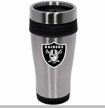 Oakland Raiders 16oz Stainless Travel Tumbler