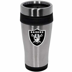 Oakland Raiders 16oz Stainless Travel Tumbler - Click to enlarge