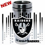 Oakland Raiders 16oz Stainless Traveler with Wrap