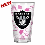 Oakland Raiders 16oz Valentine's Pint Glass