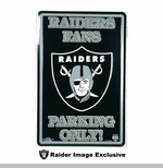 Oakland Raiders 18 Inch Parking Sign
