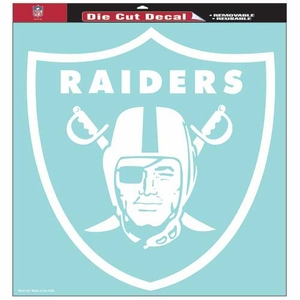Oakland Raiders 18 x 18 Inch Die Cut Logo Decal - Click to enlarge