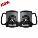 Oakland Raiders 18oz Sculpted Gametime Mug