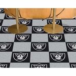 Raiders 18x18 Assorted Floor Carpet Tiles