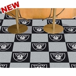 Oakland Raiders 18x18 Assorted Floor Carpet Tiles
