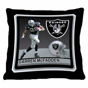 Oakland Raiders 18x18 Darren McFadden Pillow - Click to enlarge