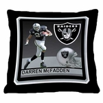 Oakland Raiders 18x18 Darren McFadden Pillow