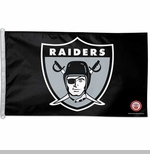 Oakland Raiders 1963 3 X 5 Logo Flag