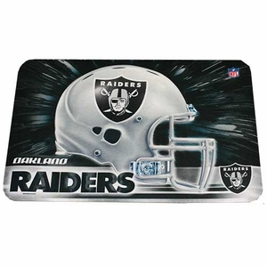 Oakland Raiders 20 x 30 Logo Door Mat - Click to enlarge