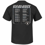Oakland Raiders 2013 Schedule Tee
