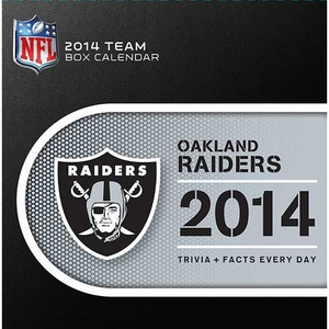 Oakland Raiders 2014 Box Calendar - Click to enlarge