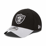 Oakland Raiders 2015 New Era 39Thirty Reverse Fan Training Cap