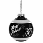 Oakland Raiders 2016 Glass Ball Ornament
